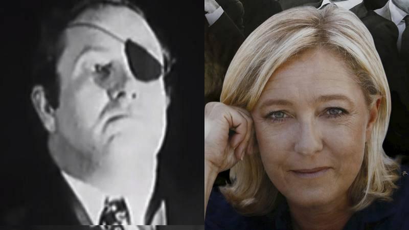 Jean Marie Le Pen (1972)/Marine Le Pen (2017)