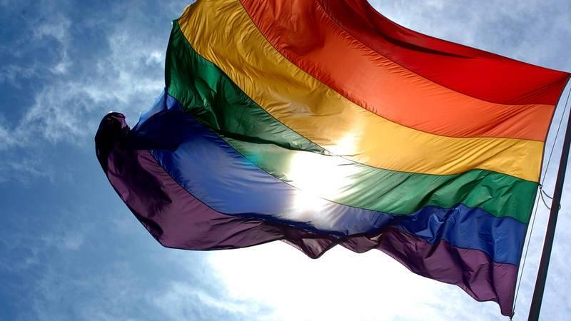 La bandera arcoíris del orgullo LGTB