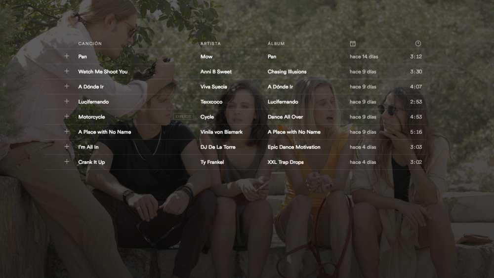 Echa un vistazo a la playlist de 'Inhibidos'