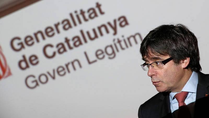 El cabeza de lista de Junts per Catalunya en las elecciones catalanas del 21-D, Carles Puigdemont
