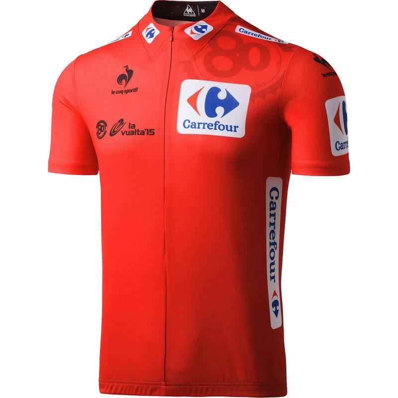 Imagen del maillot oficial de líder de la Vuelta ciclista a España 2015.