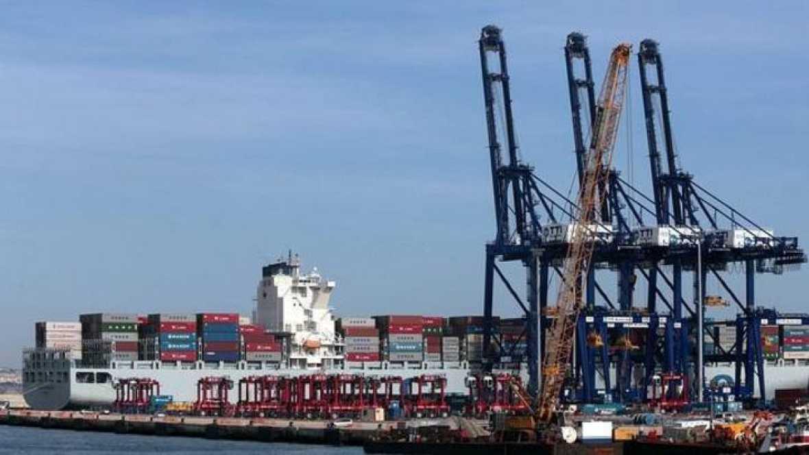 Vista parcial del puerto gaditano de Algeciras