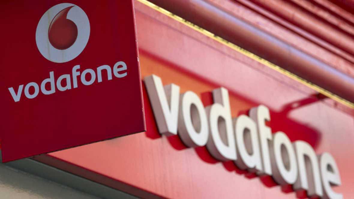 Logo de la compañía de telefonía Vodafone