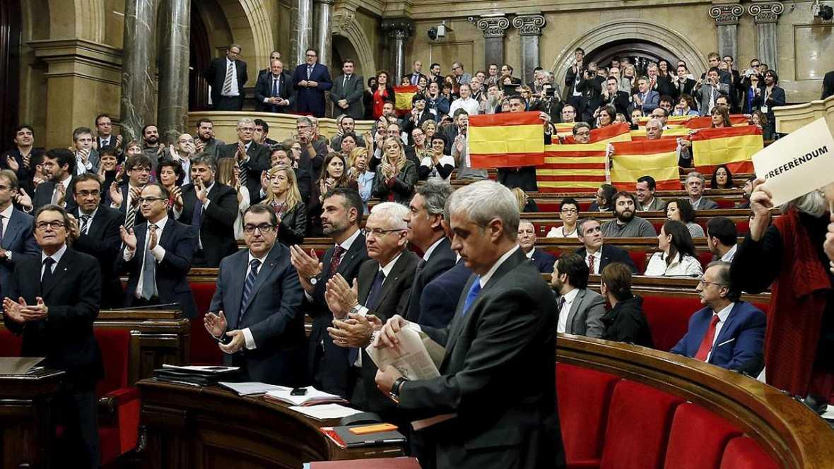 Imagen del Parlament del día en el que se aprobó la resolución independentista.