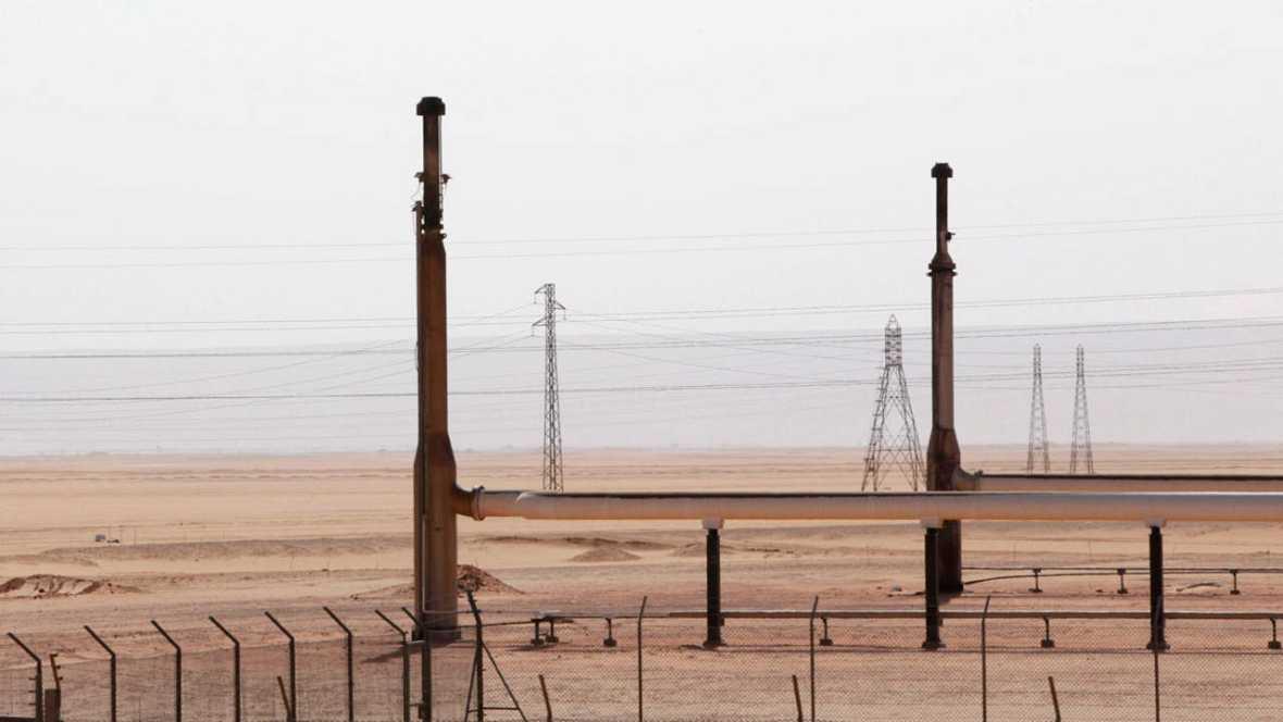 Campo petrolífero en Libia
