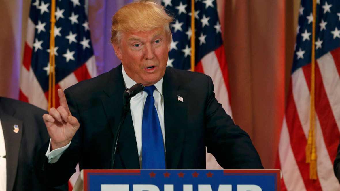 Trump celebra su triunfo en el supermartes