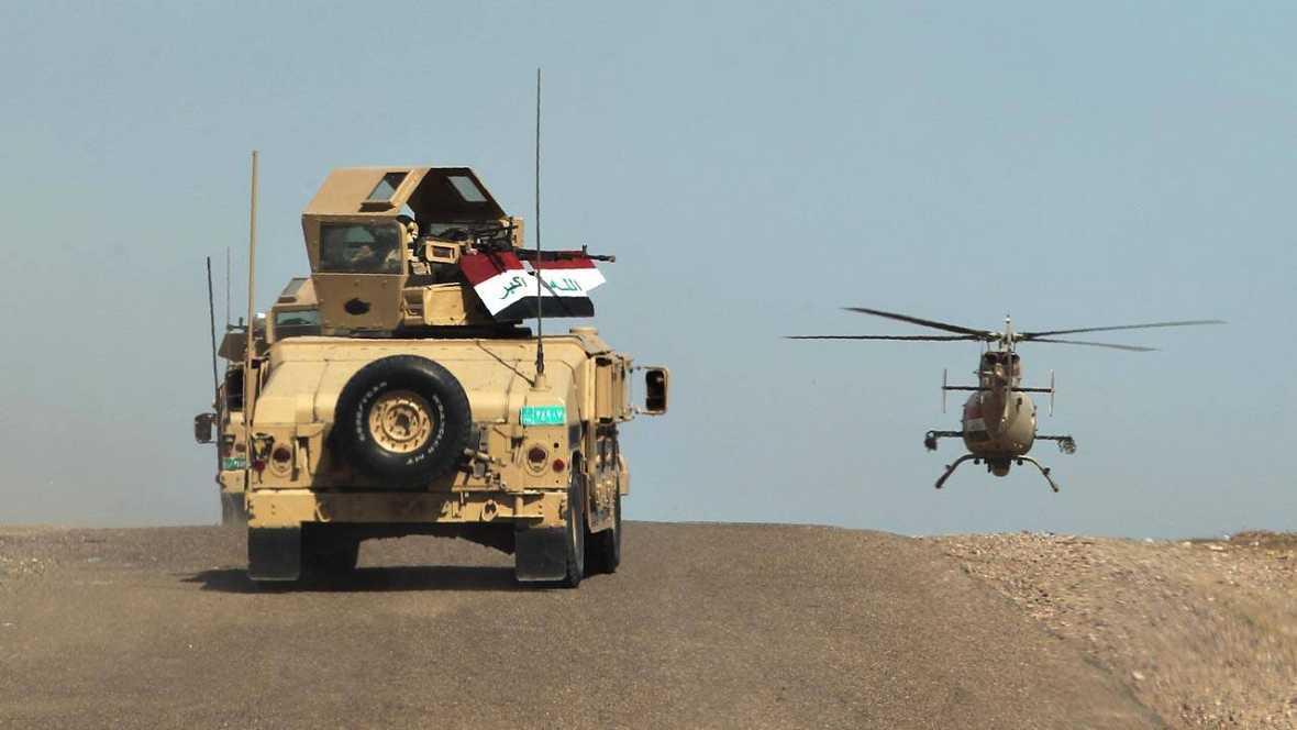Fuerzas militares iraquíes desplegadas contra el Estado Islámico