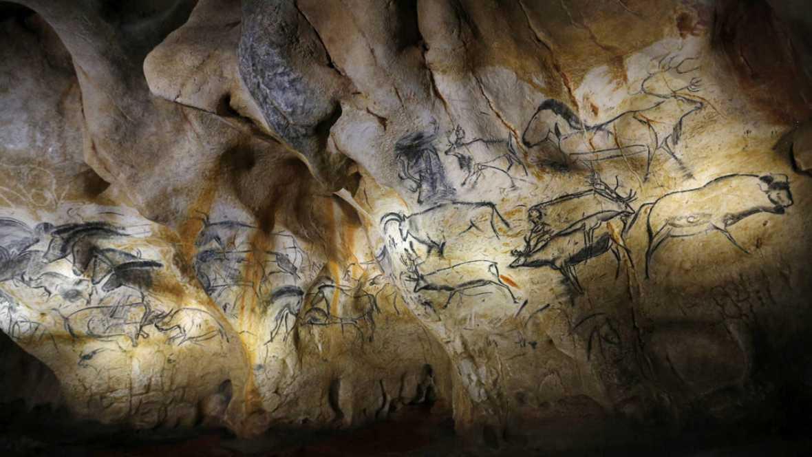 Las pinturas rupestres de la cueva Chauvet-Pont d'Arc se encuentran en el sur de Francia.