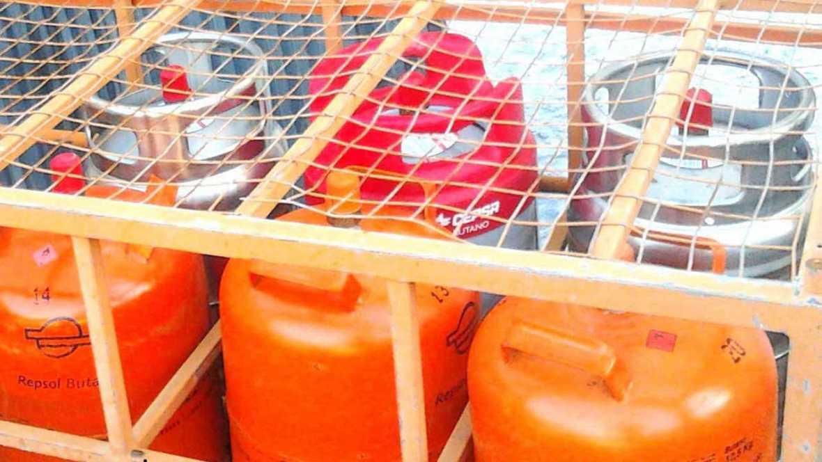 Bombonas de butano de diversas compañías de gas