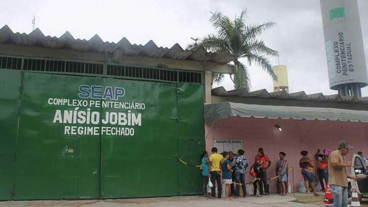 Motín en el Complejo Penitenciario Anísio Jobim en Manaos, en el norte de Brasil.