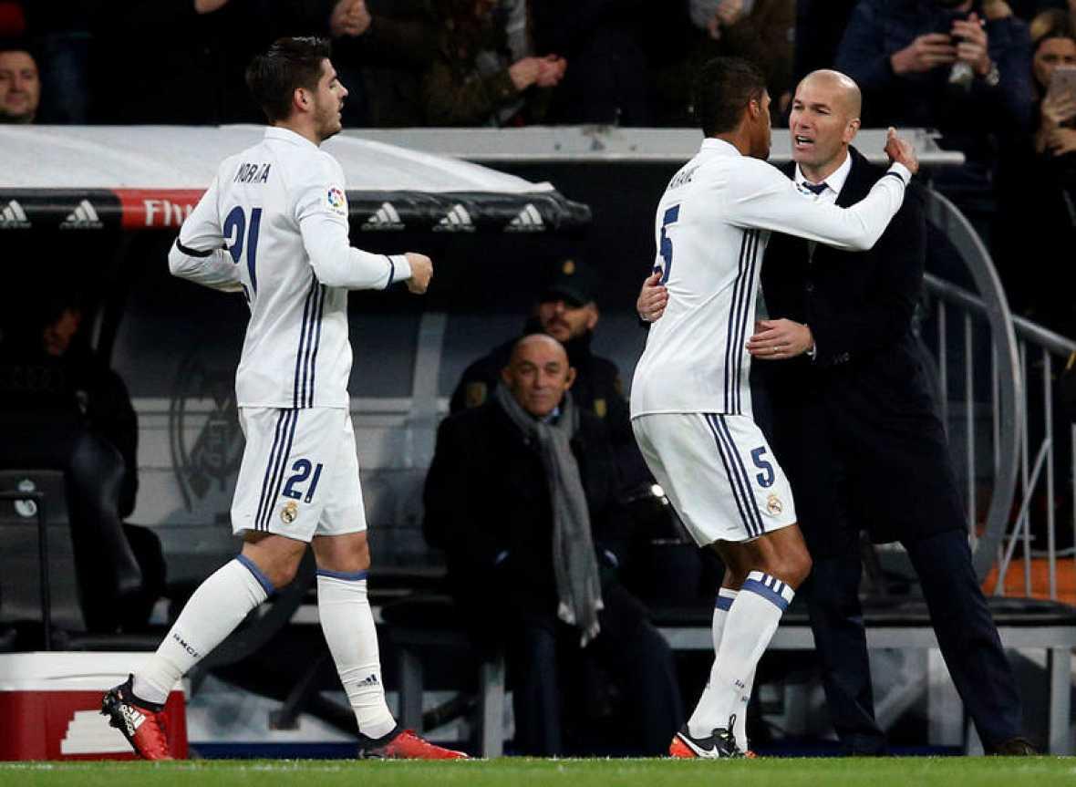 El Real Madrid ha puesto pie y medio en la siguiente ronda de la Copa del Rey