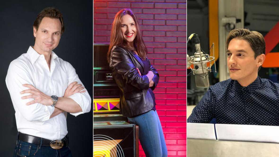 Javier Cárdenas, Virginia Díaz y Xavi Martínez, el jurado de 'Objetivo Eurovisión'