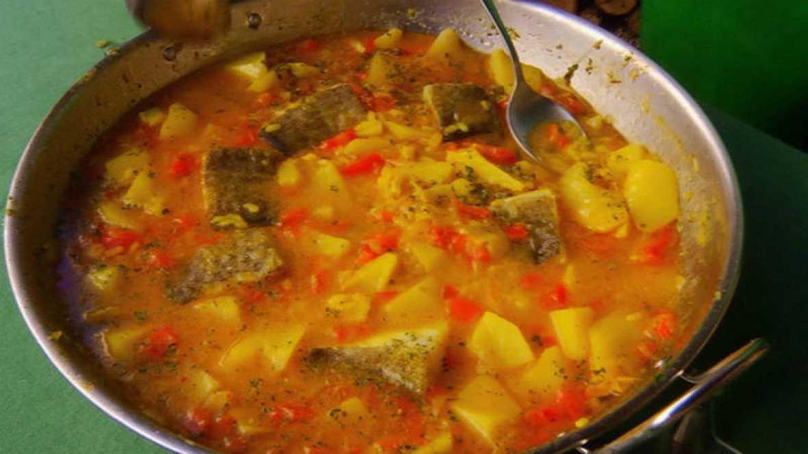 Receta con patatas y bacalao - Bacalao con garbanzos y patatas ...