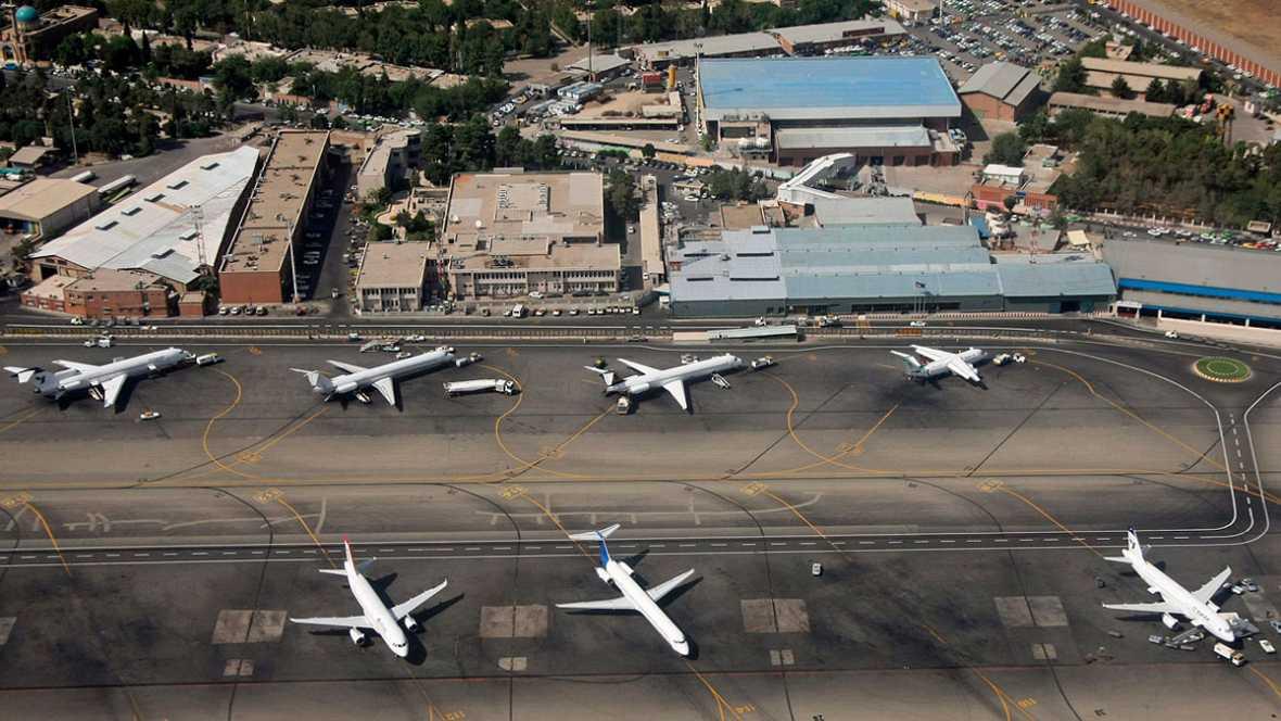 Vista aérea del aeropuerto Internacional de Mehrabad, en Irán, de donde despegó el aparato