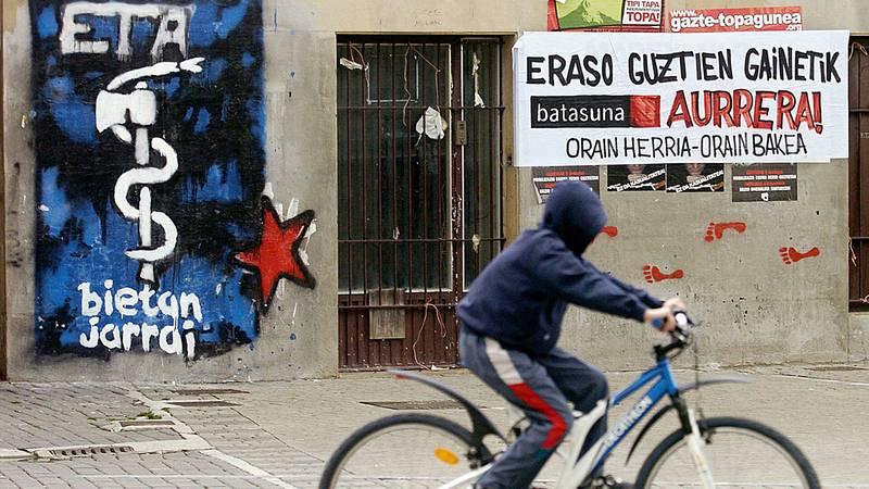 Imagen de archivo de una pintada con el logotipo de ETA