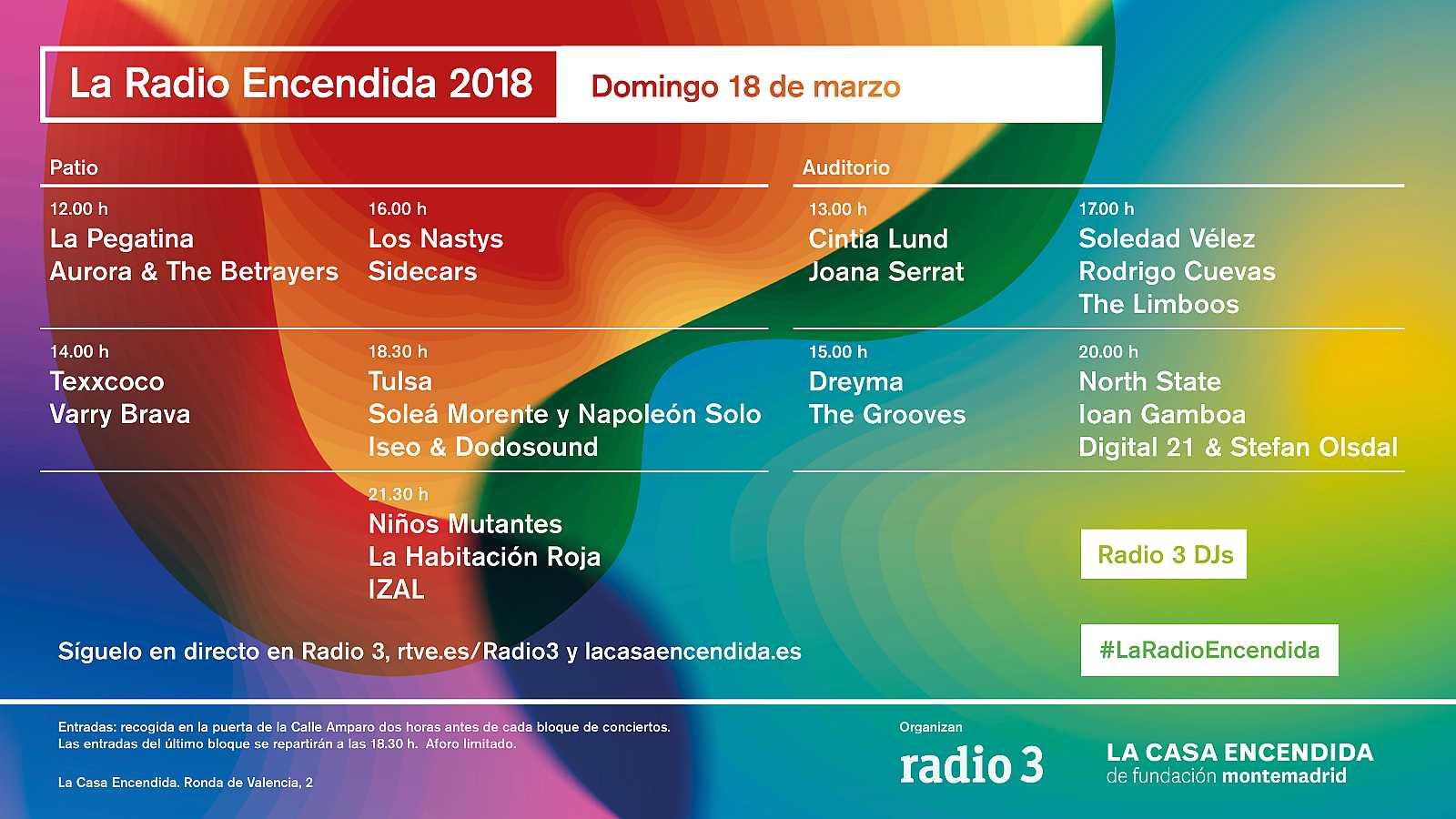 Cartel de La Radio Encendida 2018