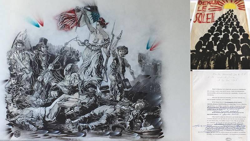 Arte urbano, carteles y archivos hacen su relato de Mayo del 68 medio siglo después