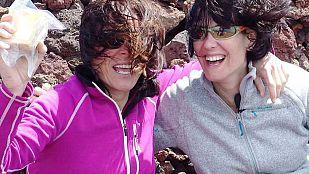 Noticia Mónica López asciende el volcán Teneguía