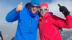 Noticia El actor Edu Soto sube con Edurne Pasaban a la cumbre del Montardo, una de las más emblemáticas del Valle de Arán