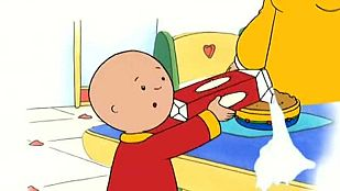 Video Caillou tira la leche