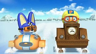 Video A sled race