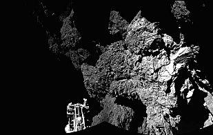 Primera imagen de Philae en la superficie del cometa 67P/Churyumov-Gerasimenko