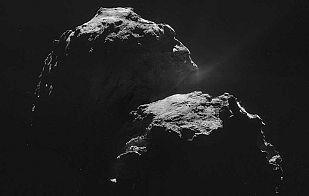 El cometa 67P visto a 10 kilómetros de distancia