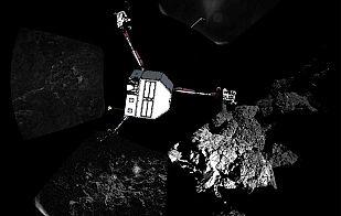 El cometa y Philae en una panorámica