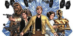 Fragmento de la portada del número 1 de 'Star Wars'
