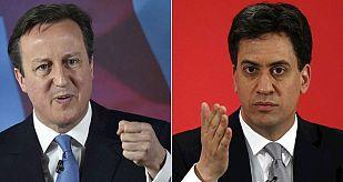 David Cameron y Ed Miliband no lograrán mayoría absoluta, según los sondeos.
