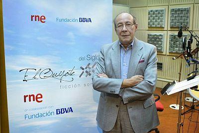 El académico Francisco Rico, responsable de la adaptación y el guión de la versión radiofónica de 'El Quijote'.