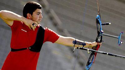 El tirador con arco español Miguel Alvariño, oro individual en los Juegos Europeos de Bakú