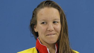 La nadadora española Marina Cruz, doble medalla de bronce en Bakú