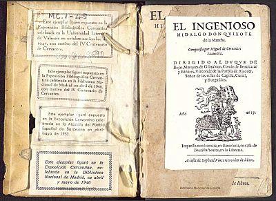 """Edición de la primera y segunda parte de """"El Quijote"""" de 1617"""