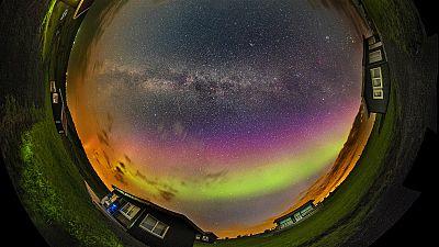 Una tormenta de auroras boreales