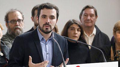 El candidato de Izquierda Unida y Unidad Popular a las generales, Alberto Garzón