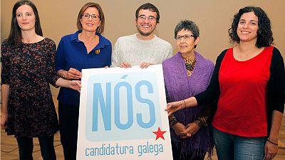 Olalla Rodil, Carmén Adán, Carlos Callón, Tereixa Novo y Noa Presas, cabezas de lista en las provincias gallegas por el BNG