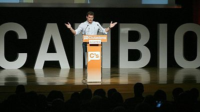 Albert Rivera, invitando al cambio en un mitin de campaña en Tarragona