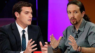 Rivera e Iglesias identifican el 'cara a cara' como la imagen de la vieja política y el fin del bipartidismo