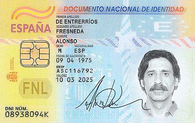 El DNI de Alonso Entrerríos