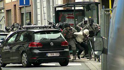Salah Abdeslam en el momento de su detención en Bélgica el pasado viernes