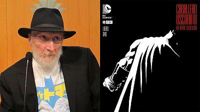Frank Miller en el Salón del Cómic y la portada de 'El Caballero Oscuro III'