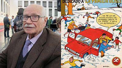 Josep María Blanco en el Salón del Cómic de Barcelona y una de sus portadas para La familia Ulises'