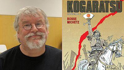 Bosse y la portada del primer integral de 'Kogaratsu'