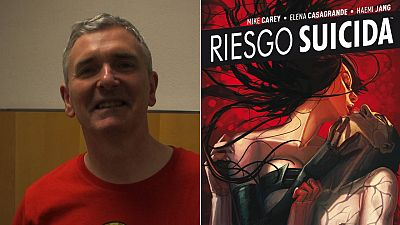 Mike Carey y una portada de 'Riesgo suicida'