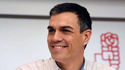 El candidato del PSOE a la Presidencia del Gobierno Pedro Sánchez