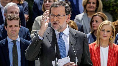 El candidato del PP, en la presentación de los cabezas de lista del partido en las elecciones generales del 26J.