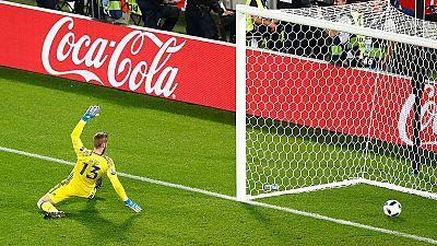 Perisic marca por el primer el palo el gol del triunfo