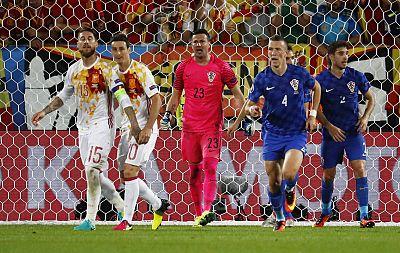 Ramos tras fallar el penalti ante Croacia.