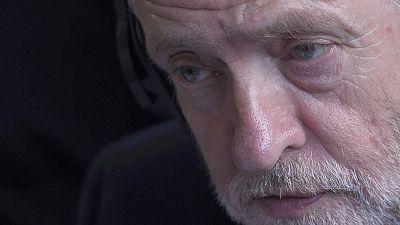 El líder laborista británico Jeremy Corbyn durante una rueda de prensa en Londres